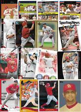 Albert Pujols 82 Different Angels Cardinals Card Lot