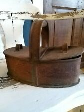 A Super Old Toleware Tin Double Box Meal Tin Can