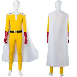 One Punch-man Hero Saitama Jumpsuit Cosplay Costume Full Set Outfit Uniform Boot