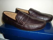 Ralph Lauren Men's Oxblood Leather Moccasin Driving Shoes New Size UK 10 EU 44