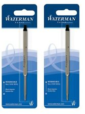 2 Packs, Genuine Waterman Ballpoint Pen Refills, Sealed Packs, Medium Point