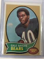 1970 Topps Gale Sayers Chicago Bears Football Card Hall of Fame HOF #70