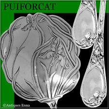 Puiforcat Rare French Sterling Silver Strawberry Spoon, Iris