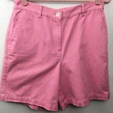 Lauren Ralph Lauren Shorts Womens 10 Pink Casual Preppy Cotton Flat Front Golf
