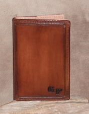 """Custom Leather Memo Note Book Cover Free Initials For Size 5.5"""" x 3 3/4"""" G&E"""