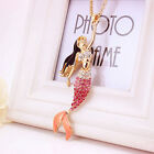 2016 Mermaid Johnson Crystal NEW Betsey Necklace Shinny Choker Pendant Jewelry