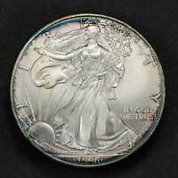 1996 1 oz AMERICAN EAGLE $1 SILVER DOLLAR, BETTER DATE! *NICE TONING* LOT#M544