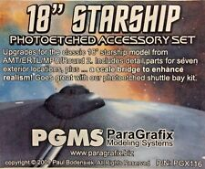 ParaGrafix 1/650 Star Trek USS Enterprise Exterior Photo-etch Set AMT PGX116 UK