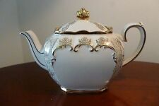 Rare Highly Collected Vintage Sadler Cube Teapot - Cream with Gold Gilt - VGC