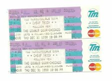 Cheap Trick Unused Concert Tickets From December 31, 1998