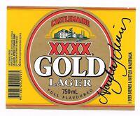 HAYLEY LEWIS - AUSSIE SWIMMING CHAMPION - HAND SIGNED BEER LABEL- XXXX GOLD