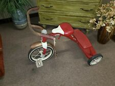 Vintage radio flyer tricycle like in the saw movies