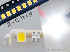 100x LED SMD PLCC 4 3528 doble chip pur Weiss pure white 2-chip Blanc very bright