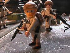 PLAYMOBIL CUSTOM EJER.BRITANICO 3º COMANDOS (LIBIA-1941)REF-058 BIS