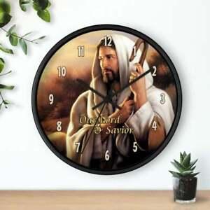 "10"" Wall Clock - Christian #3 Jesus Christ God Religious Faith Spiritual Gift"