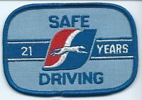 "Greyhound Bus ""21 years safe driving"" driver patch 2-1/2 X 3-3/4 inch"