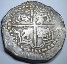 1600s Spanish Silver 8 Reales Cob Eight Real US Colonial Dollar Treasure Coin