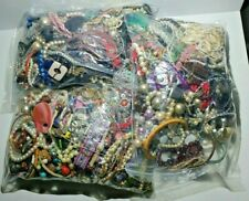 2KG Job Lot costume jewellery mixed bundle upcycle resell resale free UK p&p