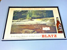Blatz beer sign vintage WILD RIVER IN SPRING series Great Midwest framed print