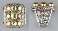Konstantino silver,18 Karat Y gold and peridot ring