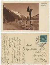 38998 - Gesegnete Ostern - Kruzifix - Ansichtskarte, gelaufen Chotesov 9.4.1936