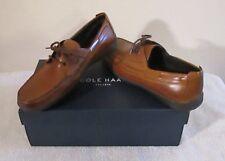 NIB Cole Haan Mens New Harbor 2 Eye Boat Shoes 8.5 British Tan MSRP$110