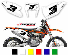 KTM MOTOCROSS BACKGROUNDS NUMBER BOARD GRAPHICS SX SX-F EXC EXC-F 125-525 COMP2