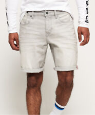 Superdry Mens Biker Denim Shorts