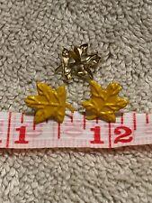 125 Yellow Maple Leaf Brads Scrapbook Card Making Fasteners