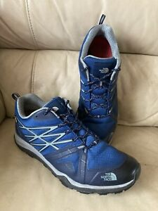 Mens THE NORTH FACE HEDGEHOG FASTPACK GORETEX Hiking Trainer Shoe Blue -UK 10