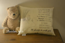 HANDMADE CUSHION ~ WINNIE THE POOH & PIGLET ~ I'LL ALWAYS BE WITH YOU