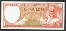 Suriname (South America) 10 Gulden 1963 banknote (Centrale Bank Suriname) - UNC