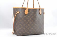 Authentic Louis Vuitton Monogram Neverfull MM Tote Bag M40156 LV 36059