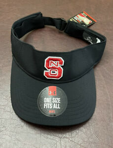 Men's NC State Wolfpack Under Armour Team Performance Adjustable Visor Hat NWT