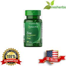ZINC GLUCONATE 25 mg IMMUNITY IMMUNE SUPPORT VEGETARIAN SUPPLEMENT 100 TABLETS