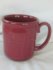 Longaberger Pottery Woven Traditions Paprika Burgundy Dw Mw Safe Mug 12 oz Usa