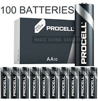 100 X DURACELL PROCELL AA BATTERIES ALKALINE 1.5V LR6 MN1500 REPLACES INDUSTRIAL