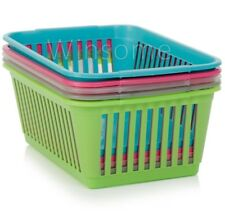 Handy Plastic Basket Fruit Vegetable Kitchen Pharmacy Tidy Storage Organiser