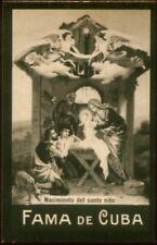 NATAL, BELEN TOBACCO CARD, FAMA DE CUBA CIGARETTES VENEZUELA CIRCA 1910