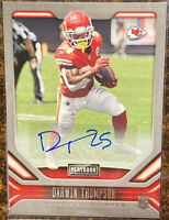 🔥 2019 DARWIN THOMPSON RC Auto Panini Playbook Football KC CHIEFS Super Bowl