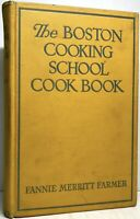 1945 BOSTON COOKING SCHOOL COOK BOOK FARMER PERKINS WWII ILLUSTRATED 7TH ED RARE