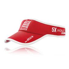 Compressport Unisex Visor Cap Red Sports Running Triathlon Breathable