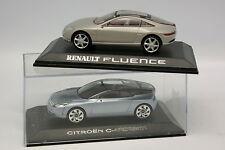 Norev Presse 1/43 - Lot de 2 concept car Citroen et Renault