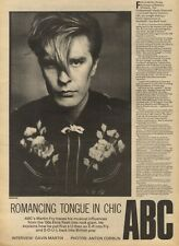 6/3/82Pgn24 Interview & pictures: MARTIN FRY Abc romancing Tongue In Chic