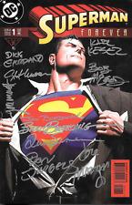 Superman Forever #1 signed x10 Giordano Kesel Immonen Jurgens Grummett Bogdanove