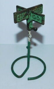 RARE EARLY VINTAGE ARCADE CAST IRON STOP AND GO SIGN