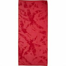 Adidas Beach Towel All Over Palm Frond Print Cotton Woven Branding Pink Red