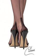 Real Seam Stockings English FULLY FASHIONED SEAMED NYLON STOCKINGS CUBAN Size M