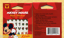 (2) CHRISTMAS DISNEY MICKEY MOUSE Nail Stickers 60 stickers total New