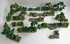 Guerra Mundial 2 miniaturas mandertory Resina 28mm Set terreno Bocage 2, acción Perno